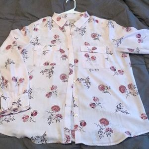 GORGEOUS LOFT BLOUSE SIZE LARGE